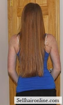My hair for sale is red with natural blonde highlights