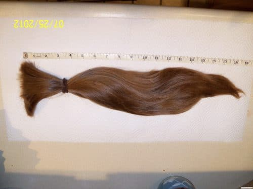 19″ Thick Red/Brown Wavy Hair for sale 5