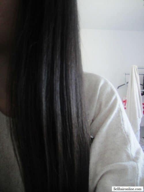 15 inches black virgin hair