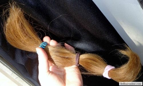The hair I'm selling in the sunlight.