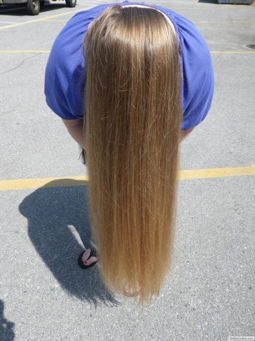 Straight Golden Blonde Hair