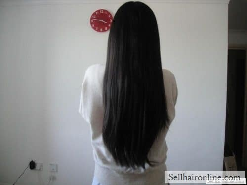 15 inches black virgin hair