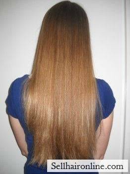 "12 inches of freshly cut \""dishwater\\\"" or dark blonde hair for sale"