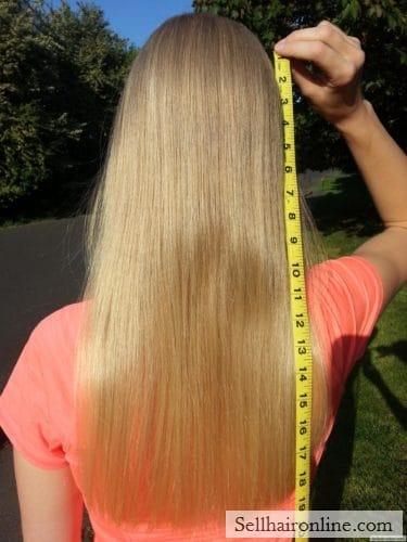13 Inches Virgin Blond Hair