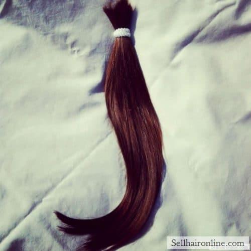 "IMG_1648 I am selling 12-14\"" of this lovely Medium Brown European hair"
