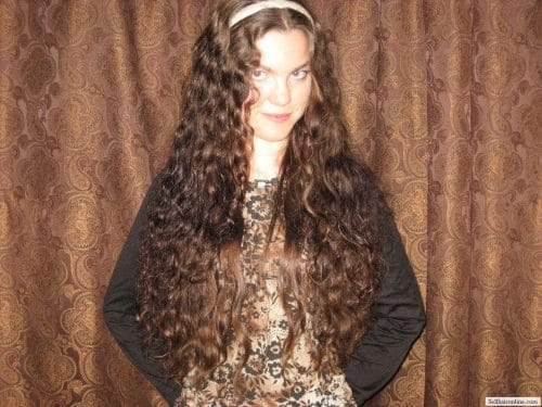 18″ Dark, Shiny, Soft, Gentle Waves of Young Healthy Hair