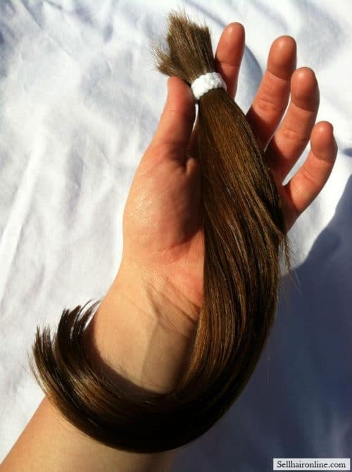 "IMG_1642 I am selling 12-14"" of this lovely Medium Brown European hair"