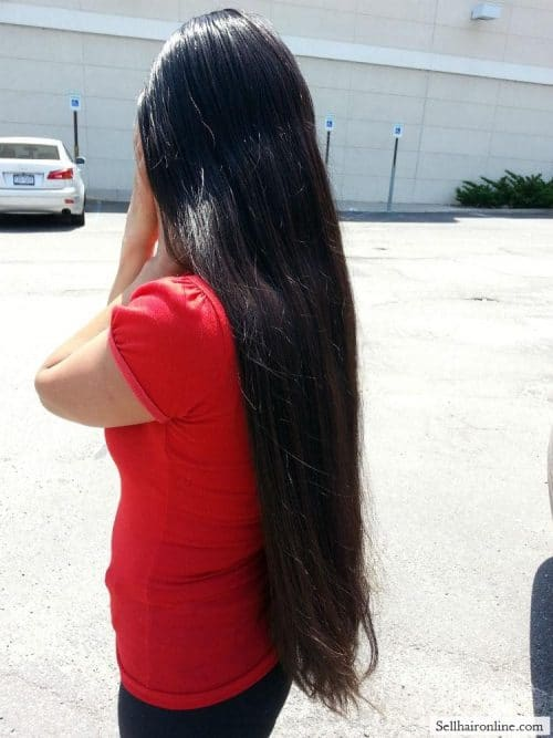 long haired lady