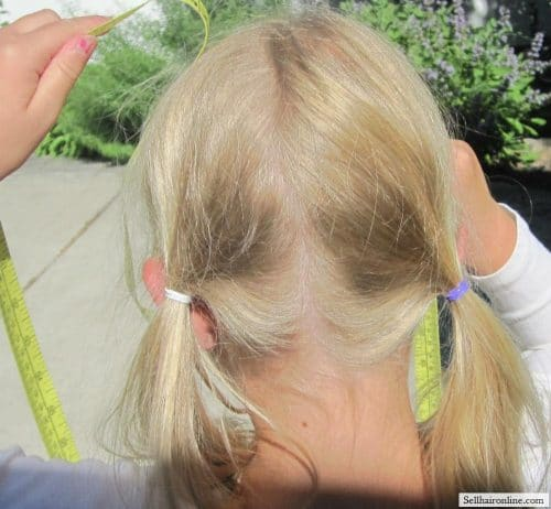 daughter\'s hair - blonde