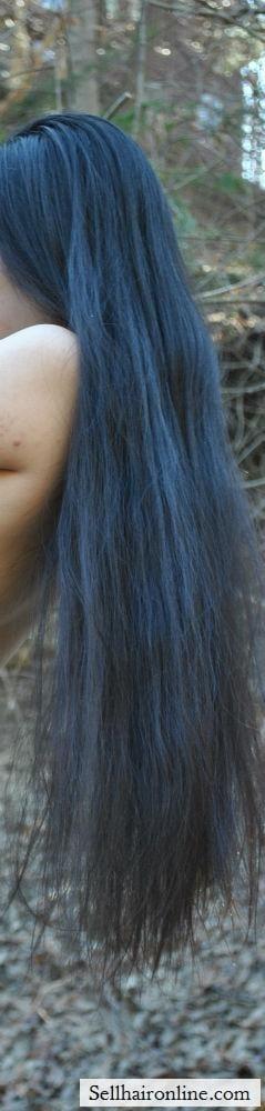 Full length of hair