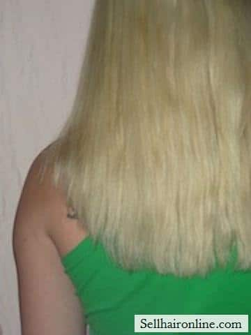 platinum blond non-virgin hair for sale