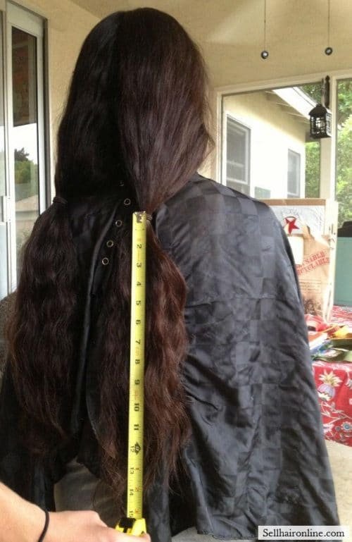 "14"" (separated for styling purposes, selling all hair)"