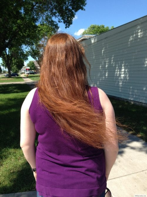 Thick, wavy, virgin red hair