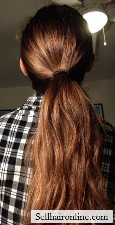 4 inches of pony tail!