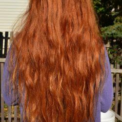 Virgin Orange/Red Wavy/Straight Hair for sale 1