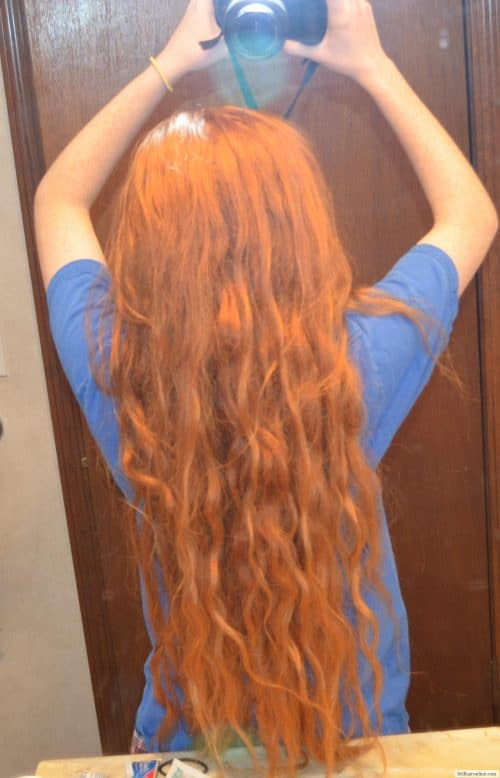 Virgin Orange/Red Wavy/Straight Hair 4 for sale