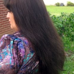 Dark Brown Silky Fine Thick Hair for sale