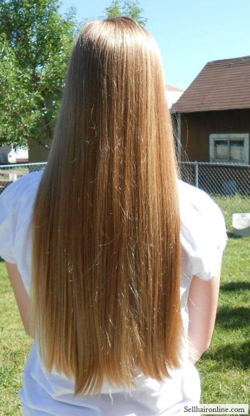 Hair when dry
