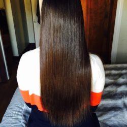 "12-14\"" of Soft, Straight Virgin Medium Brown Hair For Sale"