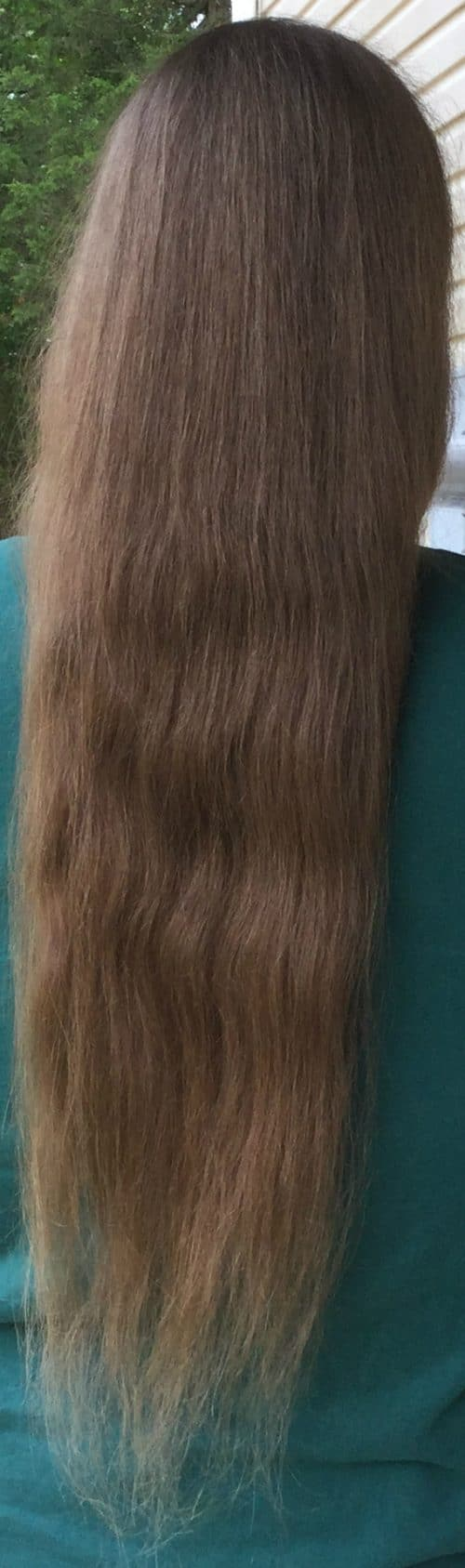 22″ virgin thick blond hair
