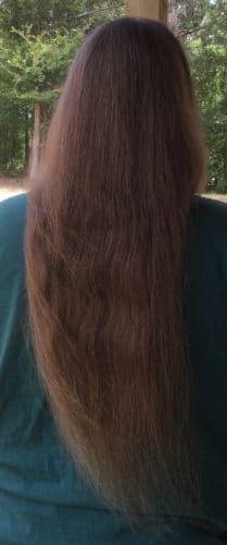 22″ virgin thick blond hair