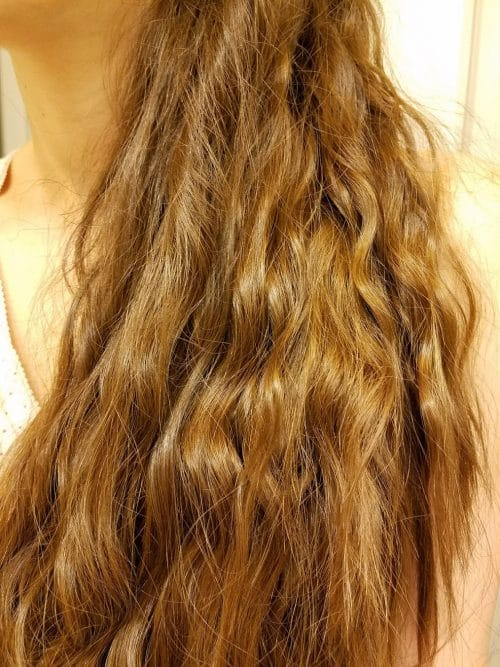 Non-heat curls by rope braid